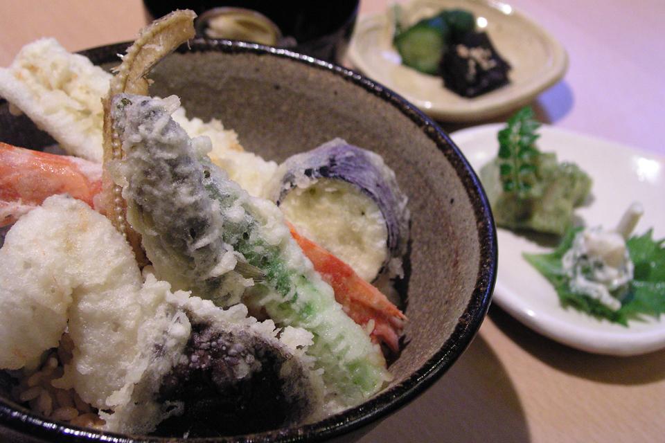 상(上) 덴푸라 덮밥