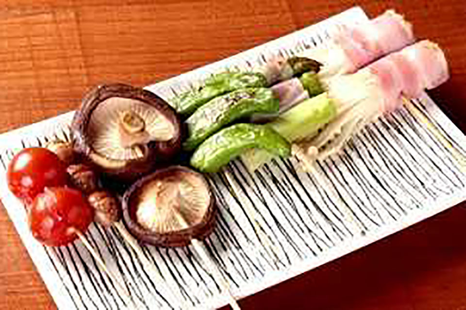 Assorted Vegetable on Skewers